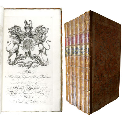 Baronagium Genealogicum: or the Pedigrees of the English Peers, Deduced from the Earliest Times, of which there are any Attested Accounts including, as well collateral as lineal descents. Originally Compiled from the Publick Records and most Authentic Evidences; by Sr. William Segar ...; and Continued to the Present Time, by Joseph Edmondson