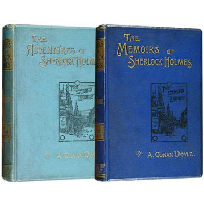 The Adventures of Sherlock Holmes - with - The Memoirs of Sherlock Holmes