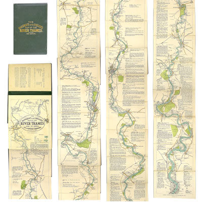 The Oarsman's and Angler's Map of the River Thames From Its Source to London Bridge.