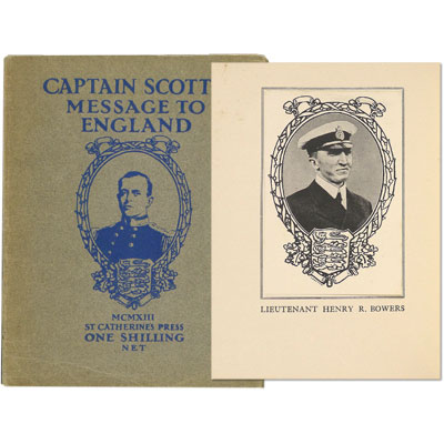 Captain Scott's Message to England