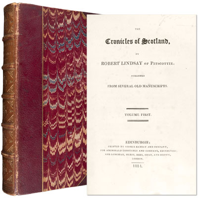 The Chronicles of Scotland. Published from Several Old Manuscripts