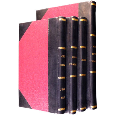 Old Burma - Eight Works on Burma in Four Volumes