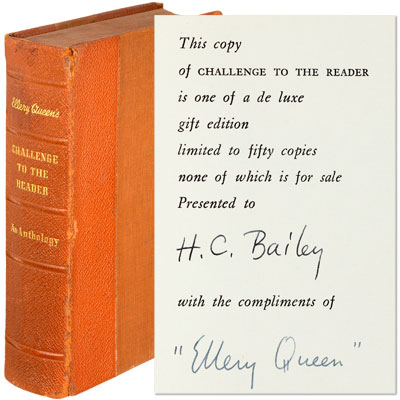 Ellery Queen's Challenge to the Reader. An Anthology - Inscribed