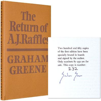 The Return of A. J. Raffles - Signed
